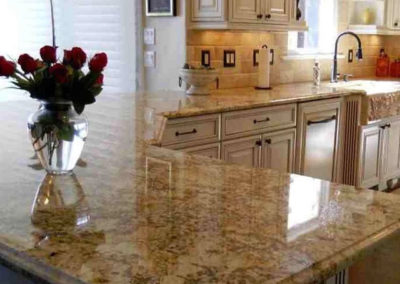 Juperana Persa natural stone from Brazil installed by Mogastone